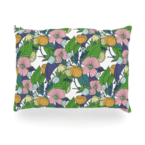"Catherine Holcombe ""Spring Foliage"" Floral Pastels Oblong Pillow - KESS InHouse"