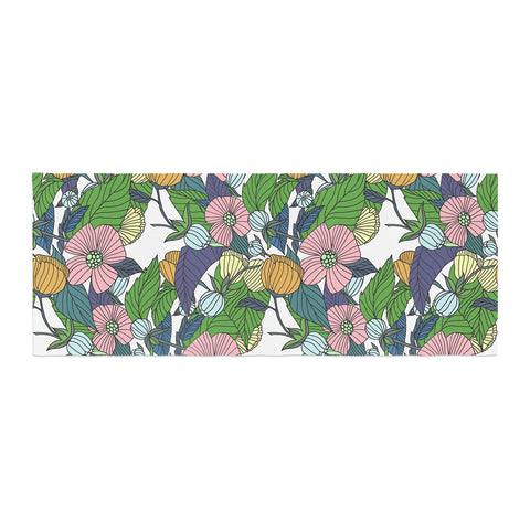 "Catherine Holcombe ""Spring Foliage"" Floral Pastels Bed Runner - KESS InHouse"