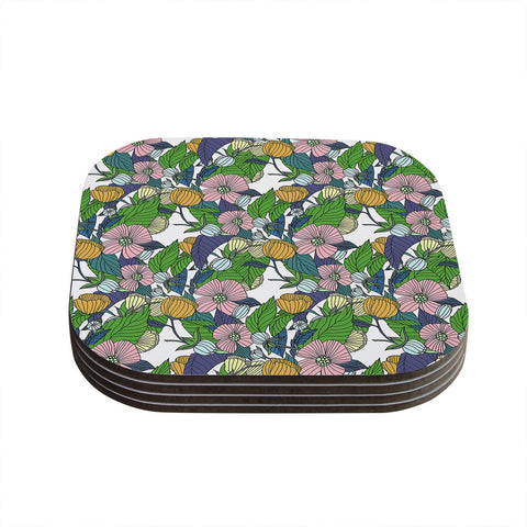 "Catherine Holcombe ""Spring Foliage"" Floral Pastels Coasters (Set of 4)"