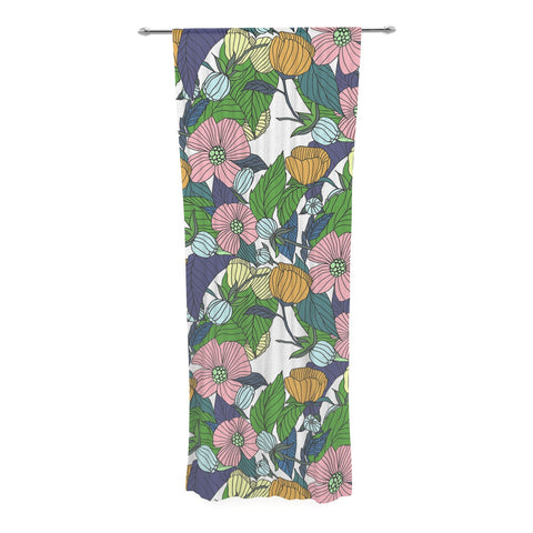 "Catherine Holcombe ""Spring Foliage"" Floral Pastels Decorative Sheer Curtain - KESS InHouse  - 1"