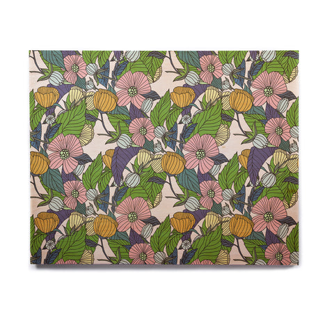 "Catherine Holcombe ""Spring Foliage"" Floral Pastels Birchwood Wall Art - KESS InHouse  - 1"