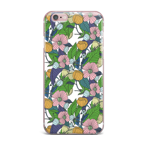 "Catherine Holcombe ""Spring Foliage"" Floral Pastels iPhone Case - KESS InHouse"