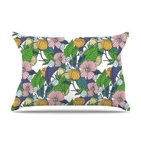 "Catherine Holcombe ""Spring Foliage"" Floral Pastels Pillow Sham - KESS InHouse"