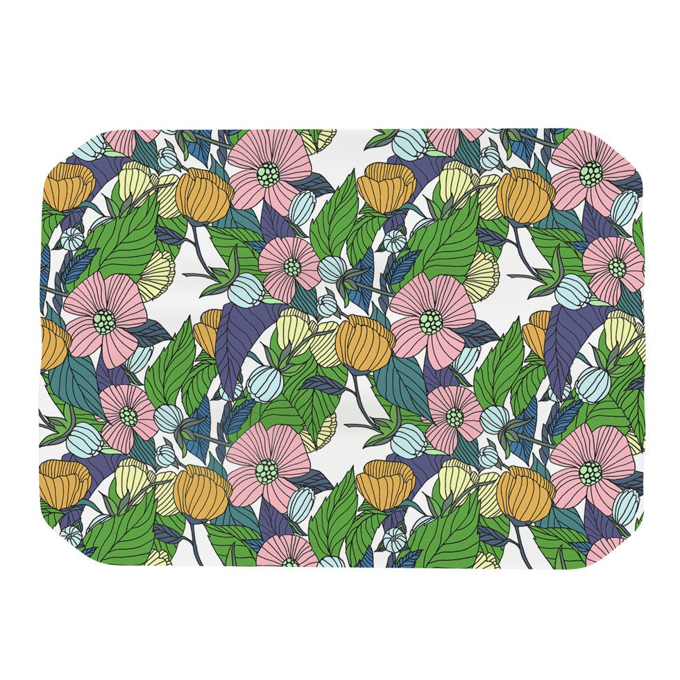 "Catherine Holcombe ""Spring Foliage"" Floral Pastels Place Mat - KESS InHouse"