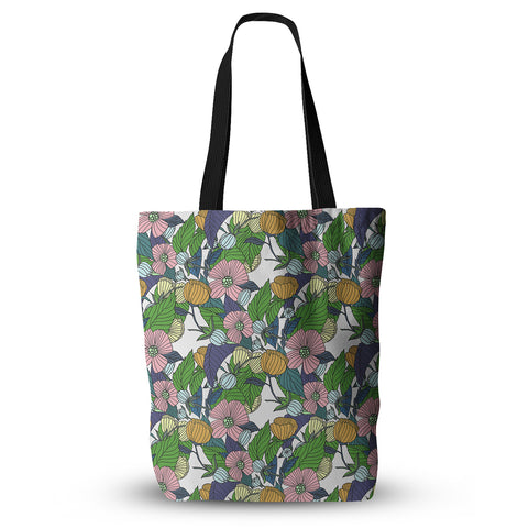 "Catherine Holcombe ""Spring Foliage"" Floral Pastels Everything Tote Bag - KESS InHouse  - 1"