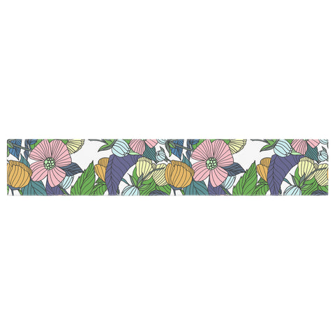 "Catherine Holcombe ""Spring Foliage"" Floral Pastels Table Runner - KESS InHouse  - 1"