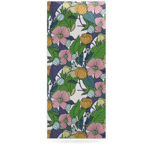 "Catherine Holcombe ""Spring Foliage"" Floral Pastels Luxe Rectangle Panel - KESS InHouse  - 1"