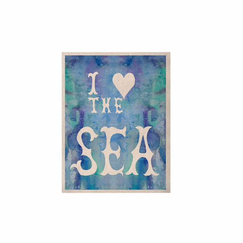 "Catherine Holcombe ""I Love The Sea 2"" Blue Teal KESS Naturals Canvas (Frame not Included) - KESS InHouse  - 1"