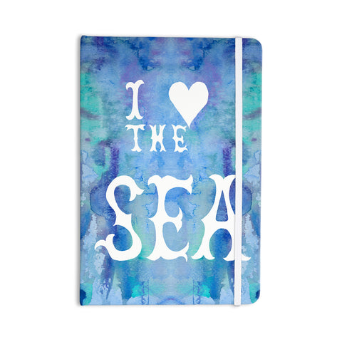 "Catherine Holcombe ""I Love The Sea 2"" Blue Teal Everything Notebook - KESS InHouse  - 1"