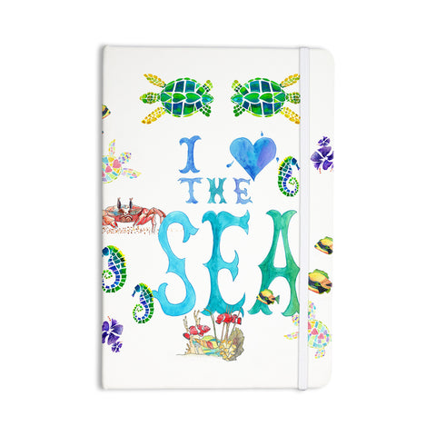 "Catherine Holcombe ""I Love The Sea"" Ocean Typography Everything Notebook - KESS InHouse  - 1"
