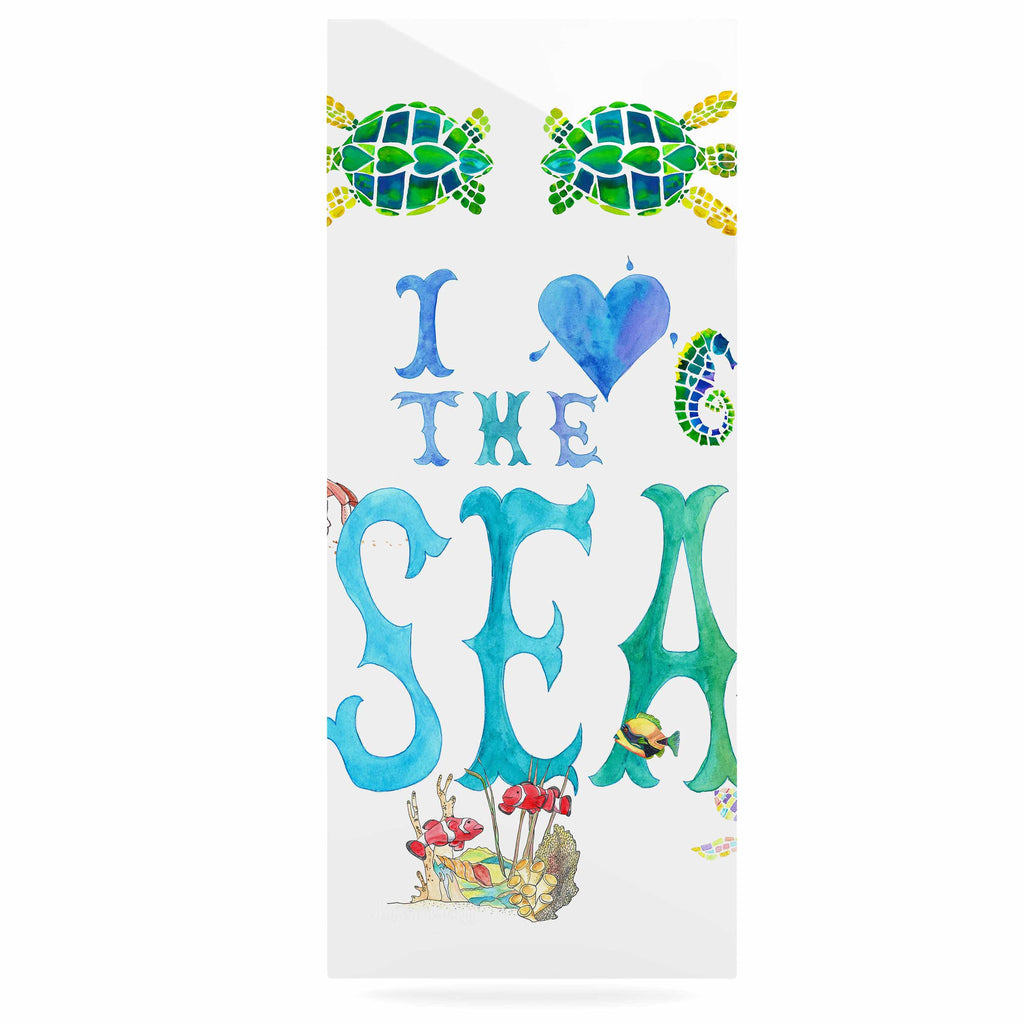 "Catherine Holcombe ""I Love The Sea"" Ocean Typography Luxe Rectangle Panel - KESS InHouse  - 1"