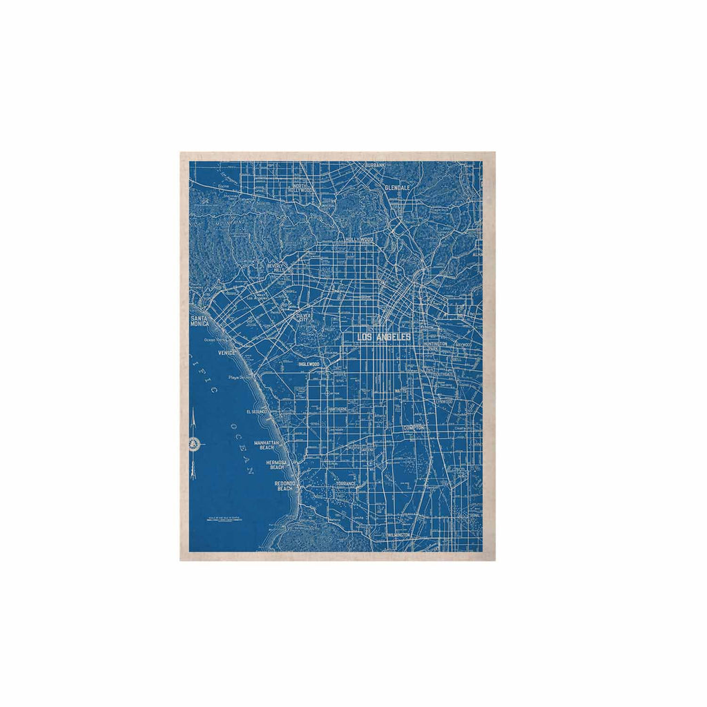 "Catherine Holcombe ""Los Angeles Streets"" Blue Map KESS Naturals Canvas (Frame not Included) - KESS InHouse  - 1"