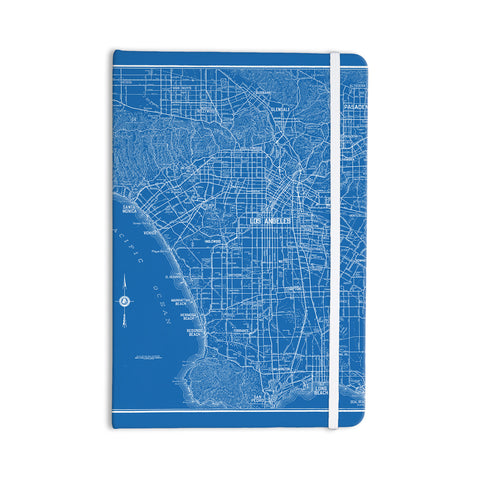 "Catherine Holcombe ""Los Angeles Streets"" Blue Map Everything Notebook - KESS InHouse  - 1"