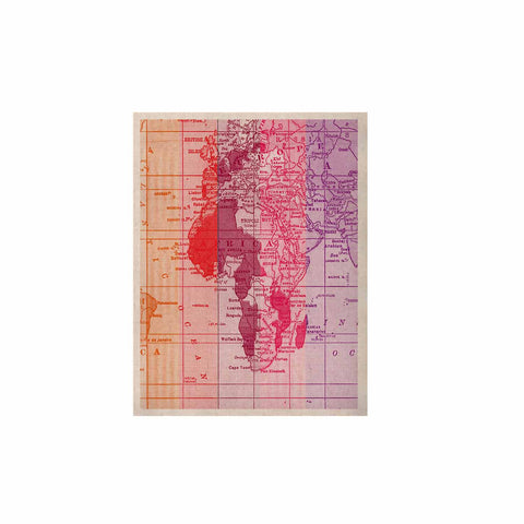 "Catherine Holcombe ""Rainbow World Map"" Multicolor Travel KESS Naturals Canvas (Frame not Included) - KESS InHouse  - 1"