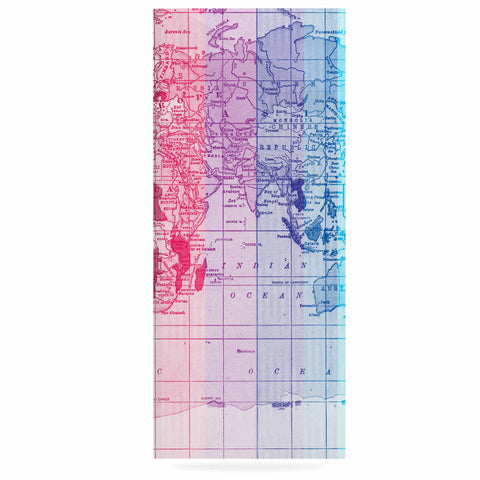 "Catherine Holcombe ""Rainbow World Map"" Multicolor Travel Luxe Rectangle Panel - KESS InHouse  - 1"