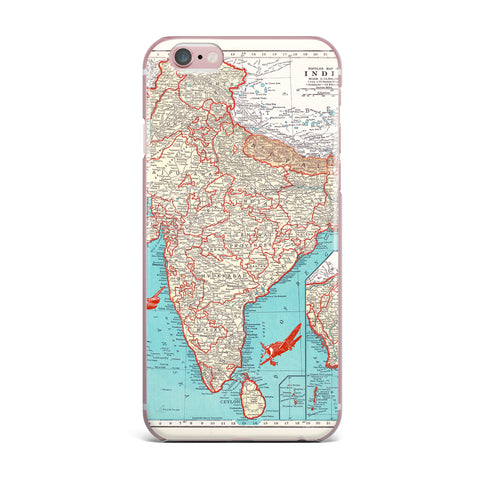 "Catherine Holcombe ""Travel To India"" Teal Red iPhone Case - KESS InHouse"