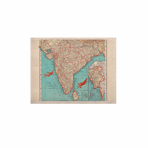 "Catherine Holcombe ""Travel To India"" Teal Red KESS Naturals Canvas (Frame not Included) - KESS InHouse  - 1"
