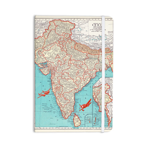 "Catherine Holcombe ""Travel To India"" Teal Red Everything Notebook - KESS InHouse  - 1"