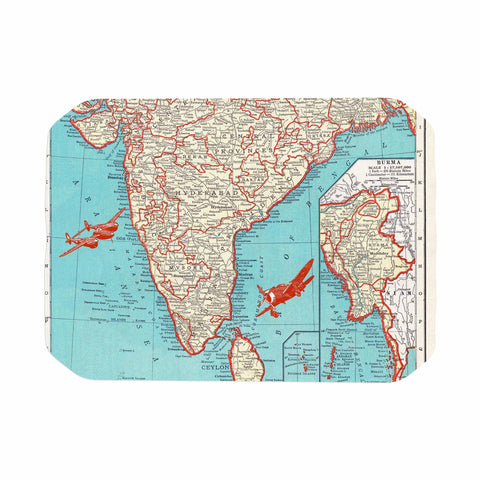 "Catherine Holcombe ""Travel To India"" Teal Red Place Mat - KESS InHouse"