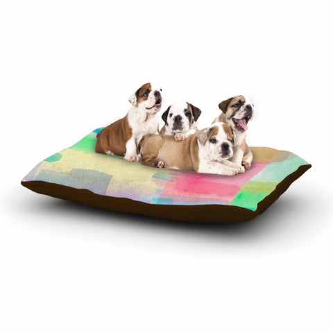 "Catherine Holcombe ""Watercolor Brushstrokes"" Modern Pink Dog Bed - KESS InHouse  - 1"