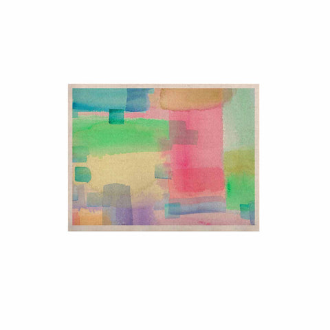 "Catherine Holcombe ""Watercolor Brushstrokes"" Modern Pink KESS Naturals Canvas (Frame not Included) - KESS InHouse  - 1"