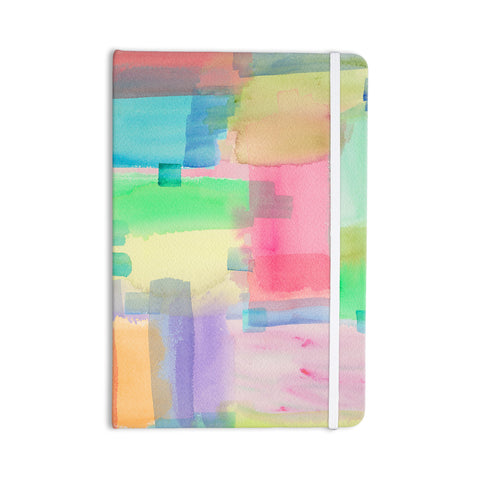 "Catherine Holcombe ""Watercolor Brushstrokes"" Modern Pink Everything Notebook - KESS InHouse  - 1"