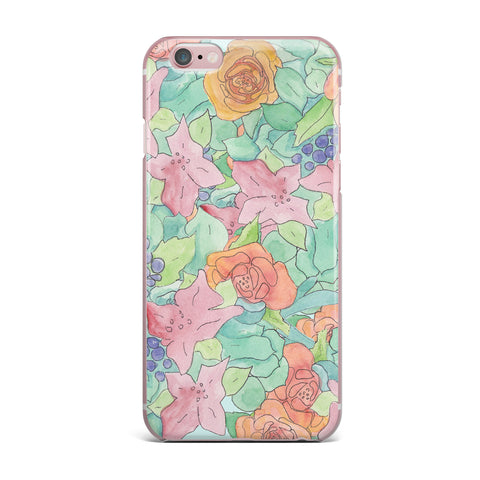 "Catherine Holcombe ""Southwestern Floral "" Green Purple iPhone Case - KESS InHouse"