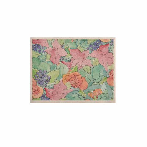 "Catherine Holcombe ""Southwestern Floral "" Green Purple KESS Naturals Canvas (Frame not Included) - KESS InHouse  - 1"