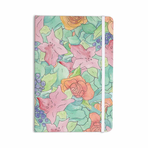 "Catherine Holcombe ""Southwestern Floral "" Green Purple Everything Notebook - KESS InHouse  - 1"