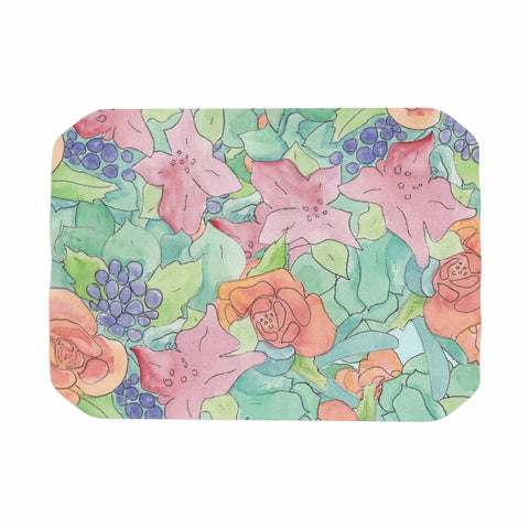 "Catherine Holcombe ""Southwestern Floral "" Green Purple Place Mat - KESS InHouse"