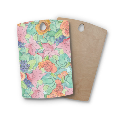 "Catherine Holcombe ""Southwestern Floral"" Rectangle Wooden Cutting Board"