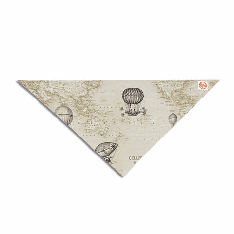 "Catherine Holcombe ""The Southern Route"" Brown White Pet Bandana - KESS InHouse  - 1"