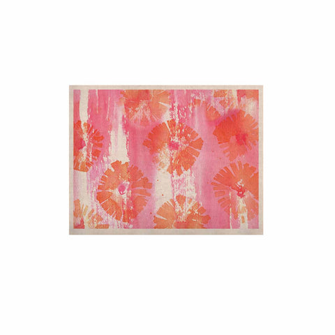 "Catherine Holcombe ""Poppin Poppies"" Pink Orange Painting KESS Naturals Canvas (Frame not Included)"