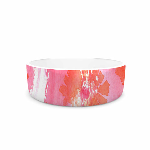 "Catherine Holcombe ""Poppin Poppies"" Pink Orange Painting Pet Bowl"