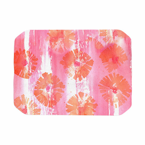 "Catherine Holcombe ""Poppin Poppies"" Pink Orange Painting Place Mat"