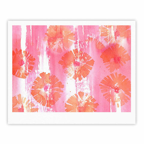 "Catherine Holcombe ""Poppin Poppies"" Pink Orange Painting Fine Art Gallery Print"