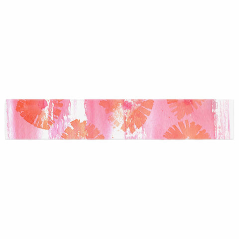 "Catherine Holcombe ""Poppin Poppies"" Pink Orange Painting Table Runner"