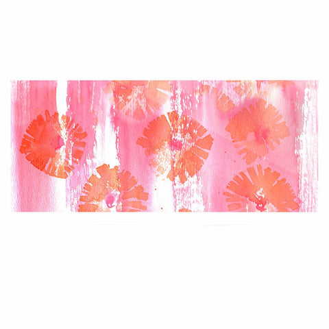 "Catherine Holcombe ""Poppin Poppies"" Pink Orange Painting Luxe Rectangle Panel"