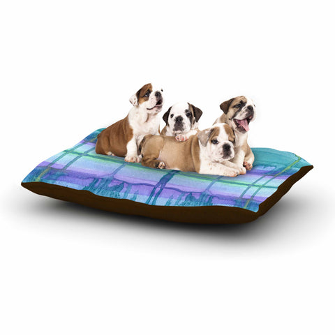 "Catherine Holcombe ""Ocean Zone"" Blue Purple Watercolor Dog Bed"