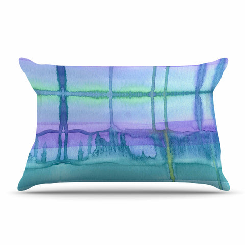 "Catherine Holcombe ""Ocean Zone"" Blue Purple Watercolor Pillow Sham"