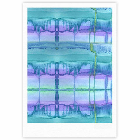 "Catherine Holcombe ""Ocean Zone"" Blue Purple Watercolor Fine Art Gallery Print"