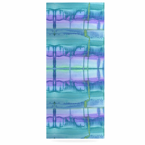 "Catherine Holcombe ""Ocean Zone"" Blue Purple Watercolor Luxe Rectangle Panel"