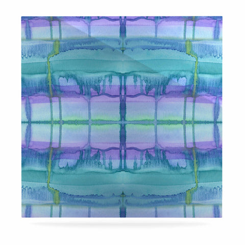 "Catherine Holcombe ""Ocean Zone"" Blue Purple Watercolor Luxe Square Panel"