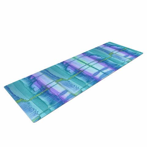 "Catherine Holcombe ""Ocean Zone"" Blue Purple Watercolor Yoga Mat"