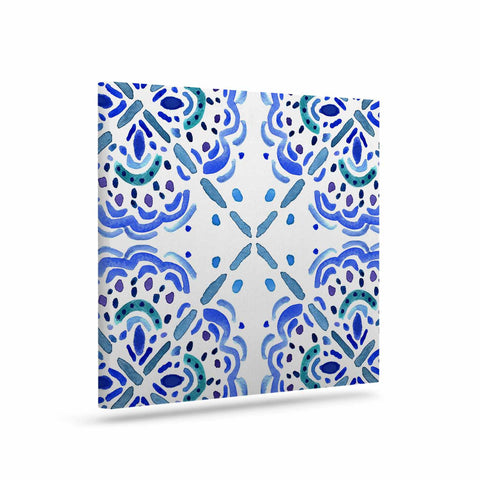"Catherine Holcombe ""Amalifi Coast"" Blue White Painting Art Canvas"