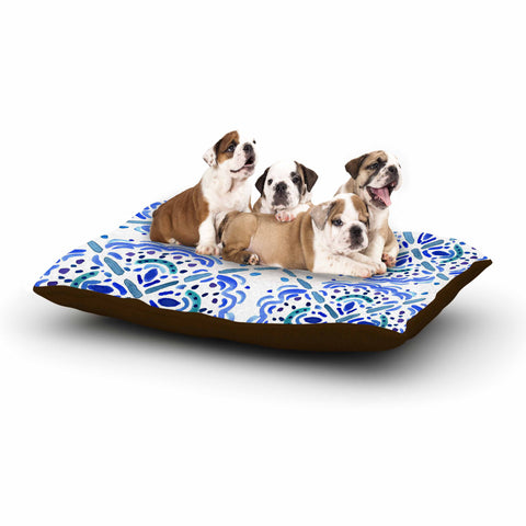 "Catherine Holcombe ""Amalifi Coast"" Blue White Painting Dog Bed"