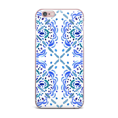 "Catherine Holcombe ""Amalifi Coast"" Blue White Painting iPhone Case"