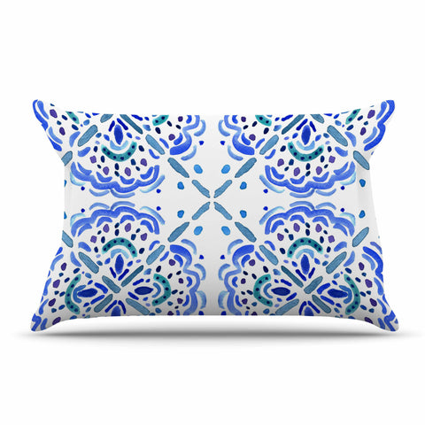 "Catherine Holcombe ""Amalifi Coast"" Blue White Painting Pillow Sham"