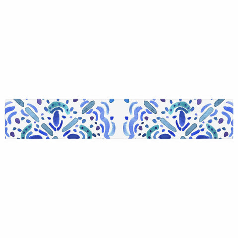 "Catherine Holcombe ""Amalifi Coast"" Blue White Painting Table Runner"