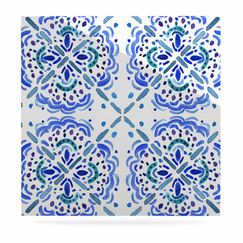 "Catherine Holcombe ""Amalifi Coast"" Blue White Painting Luxe Square Panel"